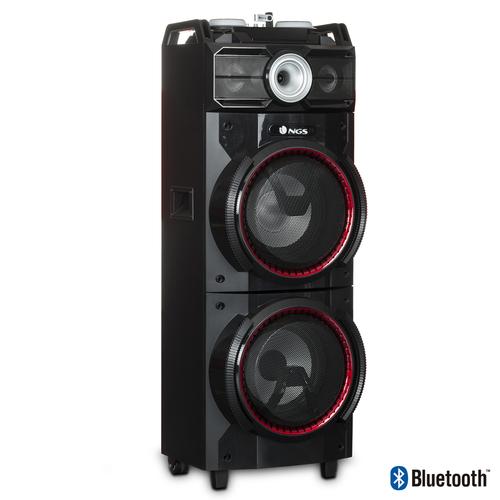 NGS CASSA ACUSTICA PORTATILE 500W DOUBLE SUBWOOFER -USB/SD/BLUETOOTH/FM RADIO