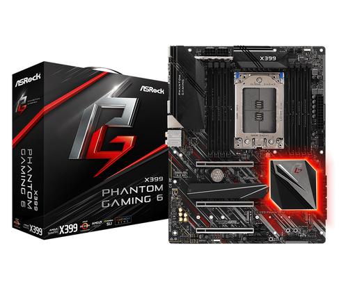ASROCK MB AMD X399 PHANTOM GAMING 6 TR4 8DDR4 128GB PCI-E x16 8XSATA3 ATX