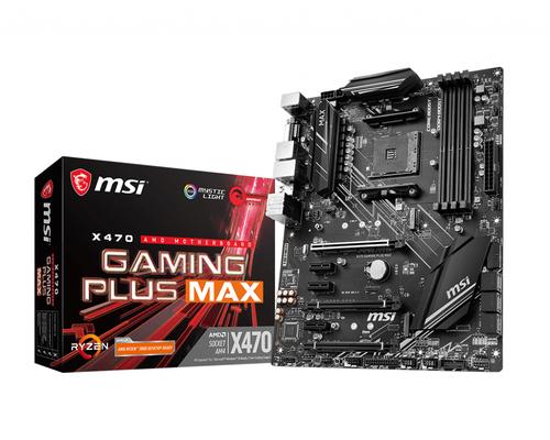 MSI MB AMD X470 GAMING PLUS MAX ATX AM4 4DDR4 3PCI-E X/16 M.2 SATA3 HDMI