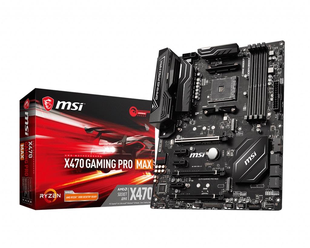 MSI MB AMD X470 GAMING PRO MAX ATX AM4 4DDR4 SATA3 M.2 HDMI