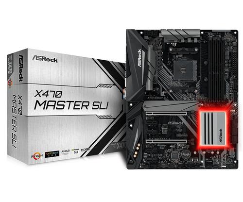 ASROCK MB AMD X470 MASTER SLI AM4 4DDR4 64GB PCI-E x16 6XSATA3 ATX
