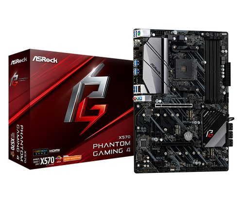 ASROCK MB AMD X570 PHANTOM GAMING 4 4DDR4 2PCI-E 4.0 M2 HDMI ATX