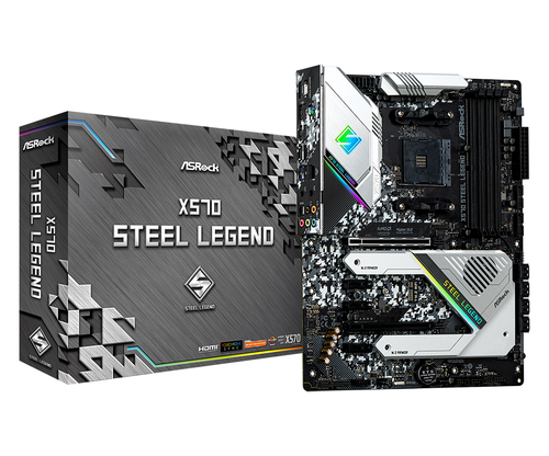 ASROCK MB AMD X570 STEEL LEGEND 4DDR4 2PCI-E 4.0 M2 HDMI ATX