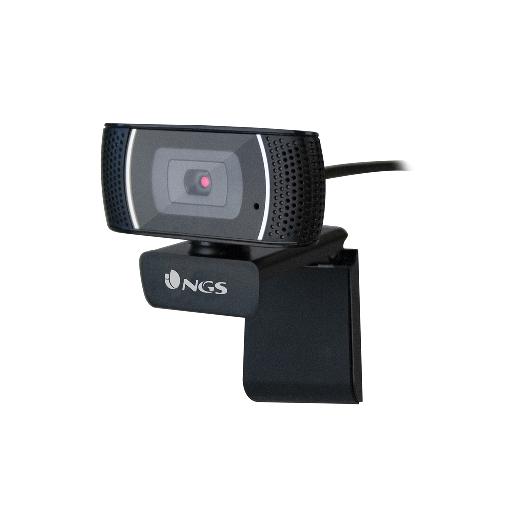 NGS WEBCAM FULL HD 1920X1080P, USB 2.0, MICROFONO OMNIDIREZIONALE INCORPORATO, LUNGHEZZA CAVO 2MT, SENSORE CMOS 1/4, ANGOLO VISUALE 60 GRADI, AUTOFOCUS