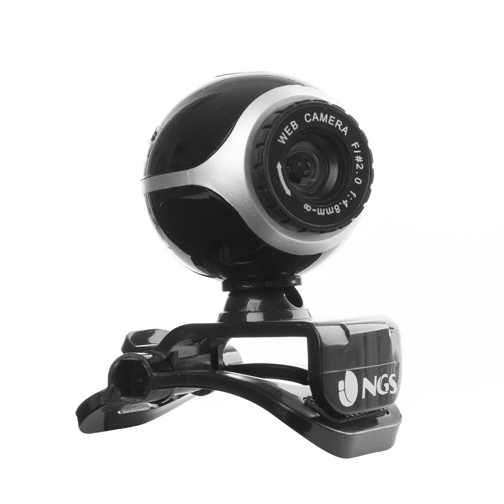NGS WEBCAM CON SENSORE CMOS 300KPX  MICROFONO INCORPORATO  ZOOM FACE TRACKING USB 2.0