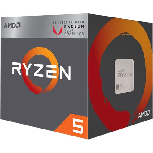 AMD CPU RAVEN RIDGE RYZEN 5 2400G 3,60GHZ AM4 6MB CACHE 65W RX VEGA GRAPHICS WRAITH STEALTH COOLER