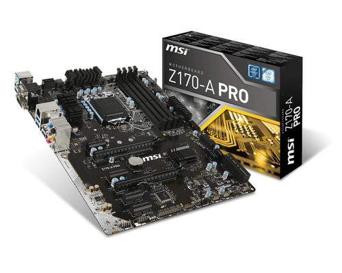 MSI MB Z170-A PRO LGA 1151 4*DDR4 4*PCI-E 6*SATA3 8*USB3.1 RENEWED BULK NO MASCHERINA/CAVI