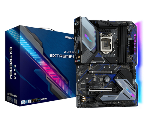 ASROCK MB Z490 EXTREME4 LGA 1200 4DDR4, 2 PCIE 3.0 X16, 3 PCIE 3.0 X1, 1 M2, 6 SATA3 ATX