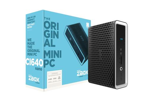ZOTAC ZBOX BAREBONE CI640 NANO I5-8250U 2XDDR4 SODIMM SATA3 2XGLAN WIFI BT DP/HDMI