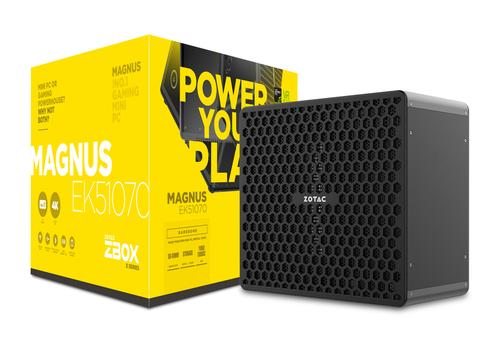 ZOTAC PC BAREBONE ZBOX EK51070-BE GTX1070 I5-7300HQ 2x DDR4 SODIMM M2 SSD + 2.5 SATAIII BAY WIFI BT DUAL GLAN HDMI DVI-D 3xDP
