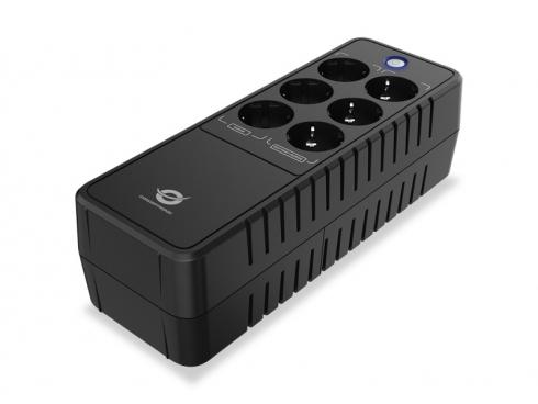 CONCEPTRONIC UPS BACKUP SYSTEM 650VA 360W, AC AUTO RESTART, DC START, PROTEZIONE MODEM/LAN, BATTERIA 12V/ 1xMS5-12