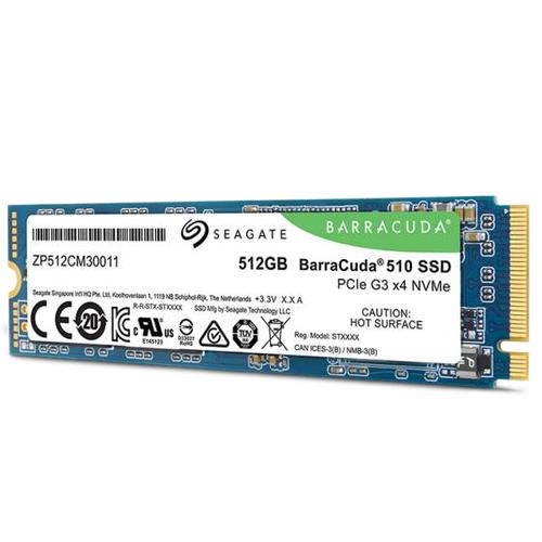 SEAGATE BARRACUDA 510 SSD 512GB  2,5 M.2 PCIe 3, NVMe 1,3 3.400/2.180 MB/s