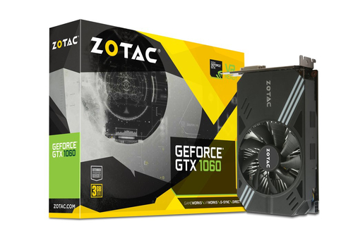 ZOTAC VGA GEFORCE GTX 1060 HDMI 3 GB DDR5 192 BIT PCI-E 3*DP