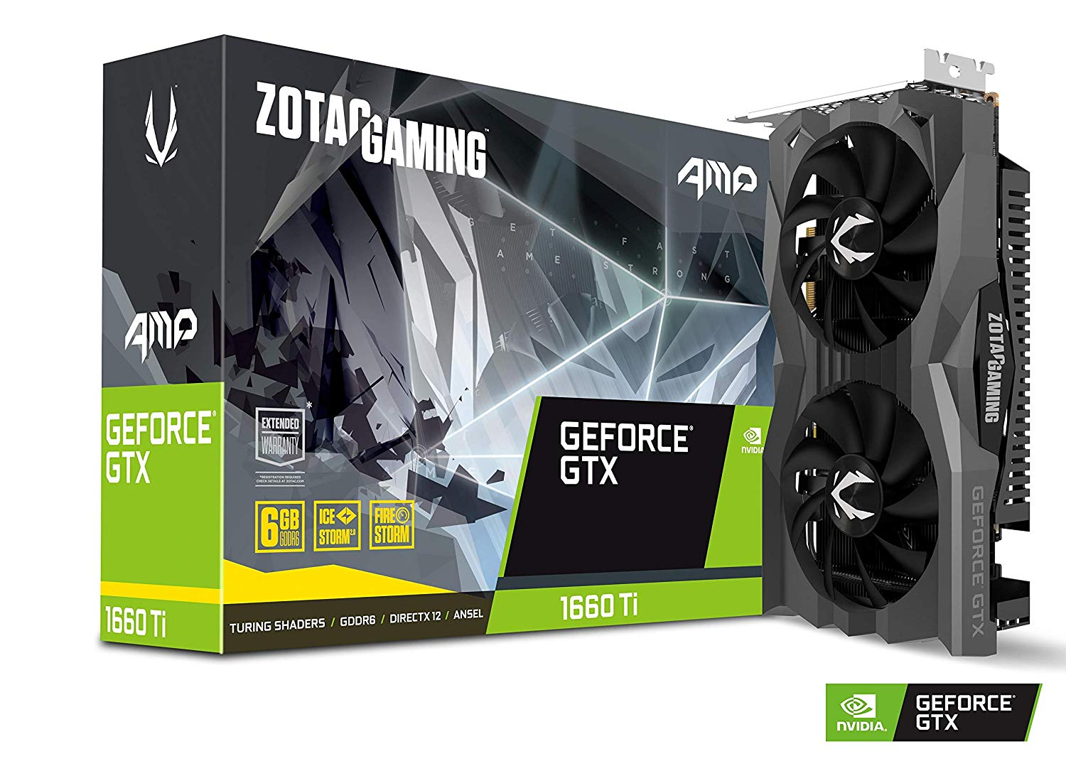 ZOTAC VGA GAMING GEFORCE GTX 1660 TI AMP 6GB GDDR6 HDMI/DP
